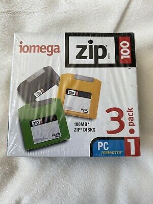 Iomega 100MB Zip Disc 3 Pack - Brand New And Sealed • 12£