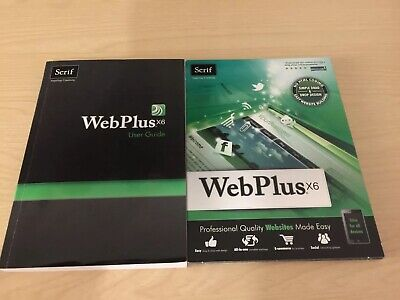 Serif Webplus X6 Licence With CD And User Guide • 5£