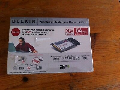Belkin Wireless And Notebook Network Card 802.11g 54 Mbps • 7£
