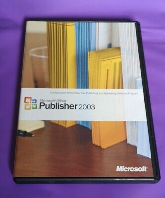 Microsoft Publisher 2003 Genuine Full Retail Version With Product Key • 29.99£