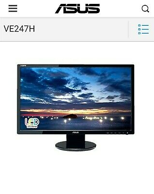 ASUS  VE VE247H 23.6   Widescreen LCD Monitor • 32£