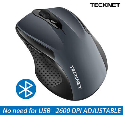 TeckNet 2.4G Wireless Bluetooth Mouse Optical Mice For PC Laptop No Need For USB • 11.29£