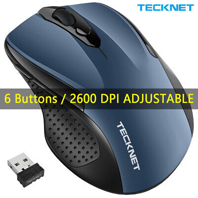 TeckNet 2.4G Wireless Mouse W/USB Optical Cordless Mice Scroll For PC Laptop Mac • 9.19£