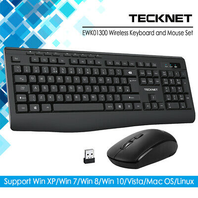 TeckNet 2.4GHz USB Wireless Gaming Keyboard And Mouse Set Combo For PC Laptop UK • 13.29£