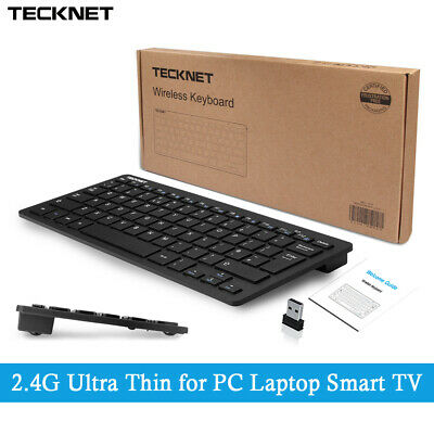 Ultra Thin UK QWERTY 2.4GHz Wireless KeyBoard For PC Laptop Macbook Smart TV Box • 11.99£