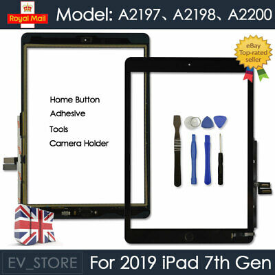 For IPad 2019 7th Gen A2198 A2200 Screen Replacement Touch Digitizer Glass Black • 22.93£