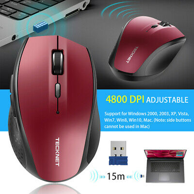TeckNet 2.4G Bluetooth Wireless Mouse 3000 DPI Optical Mice Scroll For PC Laptop • 10.99£