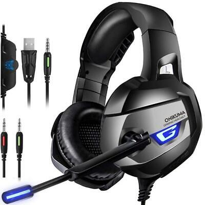 K5 Gaming Headset MIC LED Headphones For Nintendo Switch/PS4/PC/Xbox One/Laptop • 13.99£