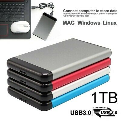 Portable USB 3.0 1TB External Hard Drive Disk HDD 2.5'' Fit For PC Laptop MAC UK • 25.98£