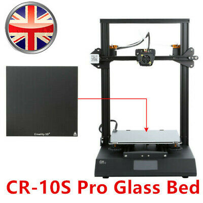 Creality Glass Bed 320X310mm For CR-10 V2 / CR-10S Pro 3D Printer UK Stock • 30.99£
