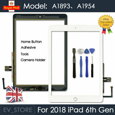 For 2018 IPad 6th Gen A1893 A1954 Touch Screen Digitizer Replacement White + IC • 11.92£