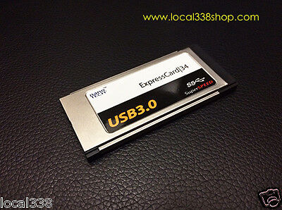 2 Port USB 3.0 ExpressCard 34 Adapter *MacBook Pro 15 /17  *OSX Native Supported • 26.08£
