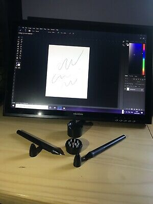 Huion Kamvas GT 190 Graphics Tablet With 2 Pens And All Cables - Black • 189.99£