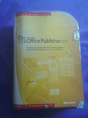 Microsoft Publisher 2007 Genuine Full   Retail Academic Version With Product Key • 29.99£