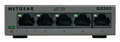 NETGEAR SOHO GS305 5-Port Gigabit Ethernet Switch - Grey • 5.90£
