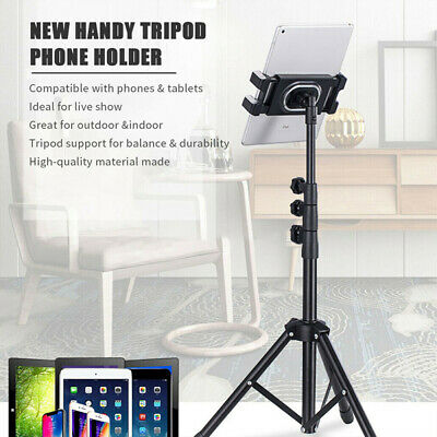 Height Adjustable Floor Tablet Tripod Stand 360° Rotary Mount For IPad IPhone • 11.99£