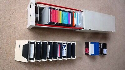 72 Used Vintage / Retro 3.5 Inch Floppy Disks 1.44MB Formatted With Storage Case • 14.99£