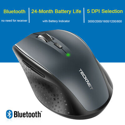 TeckNet 3000DPI Wireless Bluetooth Mouse 6 Buttons Cordless Mice For PC Laptop • 10.29£