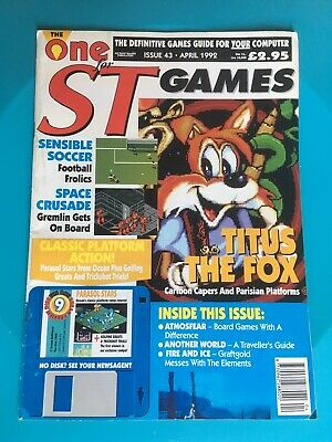 Final Issue Of The One For ST Games For Atari ST • 7£