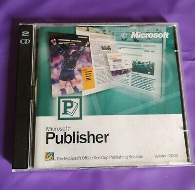 Microsoft Publisher 2002 Genuine Full  Retail Version With Product Key • 22.99£