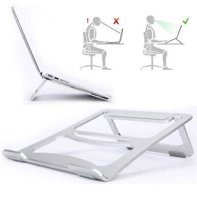 Portable Folding Aluminium Alloy Laptop Table Stand Tray Holder For Macbook Pro • 10.90£