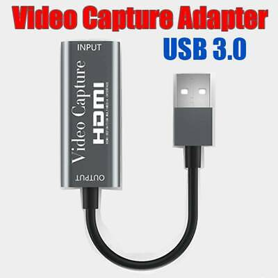HDMI To USB 3.0 Video Capture Card 1080P HD 4K For Game Live Streaming Portable  • 9.89£