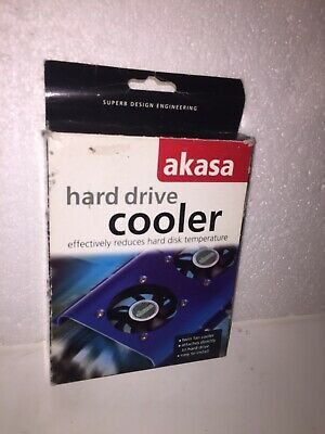 Akasa Hard Drive Cooler Twin Fan Cooler Attaches Direct To Hard Drive • 7£