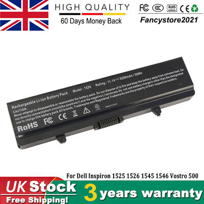 100% New Battery For Dell Inspiron 1525 1526 1440 1545 1546 1750 GW240 X284G • 14.99£