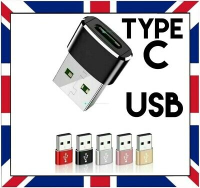 USB-C TYPE C FEMALE TO USB MALE ADAPTER For TABLET SAMSUNG LAPTOP PC MOBILE Etc. • 2.89£