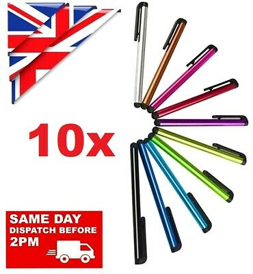 10 X STYLUS PENS For TABLET , MOBILE PHONES, SAMSUNG  IPHONE IPAD HTC HUAWEI Etc • 3.68£