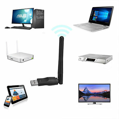 USB WiFi Wireless PC Dongle Adapter Antenna Receiver Internet Laptop Computer • 4.79£