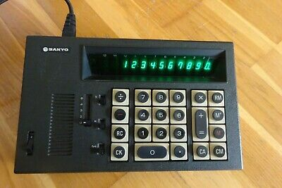 Sanyo Vintage Desktop Calculator ICC-1123 - Immaculate And Very Cool! • 3.20£