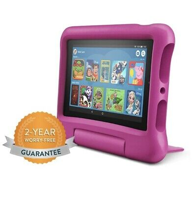 Amazon Fire 7 Kids Edition Tablet | 7  Display, 16 GB, Pink Kid-Proof Case • 119.98£