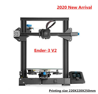 Creality Ender-3 V2 3D Printer 220X220X250mm Mean Well Power Silent Motherboard • 126£