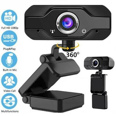 Full HD 1080P Webcam With Microphone MIC USB Camera For PC Desktop Laptop UK  • 11.95£