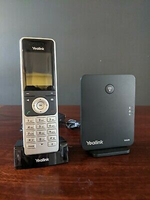 Yealink W56H Cordless DECT Handset & W60B VoIP/SIP DECT Base Station • 70£