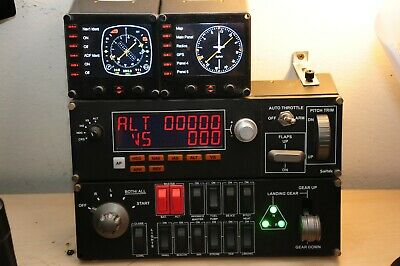Saitek FSX Multipanel, Switch Panel, And FIP Guages • 330£