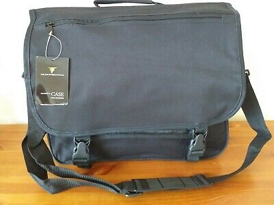 Nwt Falcon Black 15.6  Laptop Messenger Briefcase Shoulder Bag • 7.99£