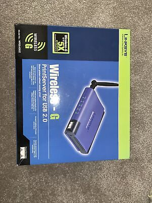 Linksys WPS54GU2 Wireless G Print Server For USB And Parallel  Printers • 5£