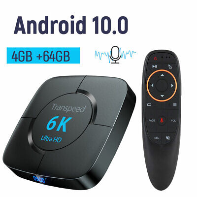 Android 10.0 4G 64G TV BOX 6K Youtube Google Assistant 3D Video TV Receiver • 60.24£