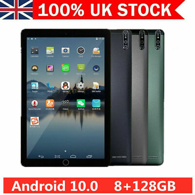 10.1  Tablet PC Android 10.0 128GB 10-Core Bluetooth WIFI Camera GPS Phablet • 95.99£