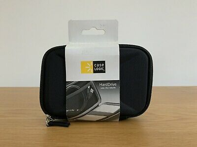 Case Logic Black Compact Portable HDD Hard Drive Case NEW • 7.99£