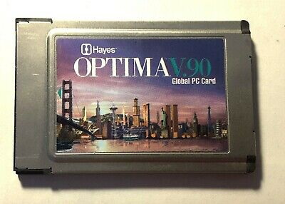 Hayes Optima V.90 56K Global PC Card • 10.99£