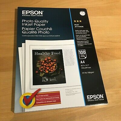 Epson Premium A4 Photo Quality Paper 102gsm (100 Sheets) • 10.60£