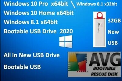 Genuine Windows Operating System On 32GB Bootable USB Drive - Choose Your OS • 12.99£