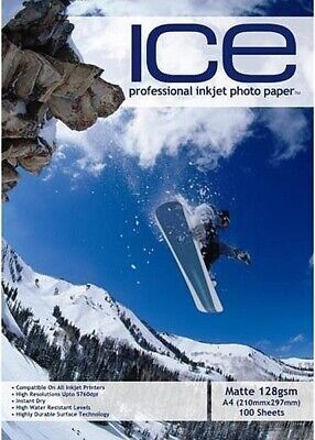 ICE Matte Photo Paper, 128gsm A4 - 100 Sheets • 4.95£