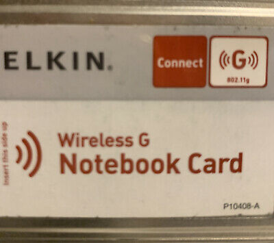 Belkin Wireless Notebook Network Card F5D7010 With Installation Software CD-Rom • 0.99£