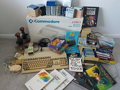 Commodore Amiga 500 Bundle Plus Games Fully Working (with 512k Memory Upgrade) • 82£