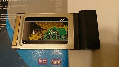 IEEE 1394 'Firewire' Cardbus Adapter And Cable • 3£