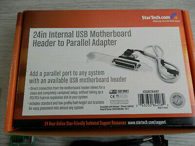 StarTech.com 24in Motherboard USB Header To Parallel LPT Adapter ICUSB1284INT • 20£